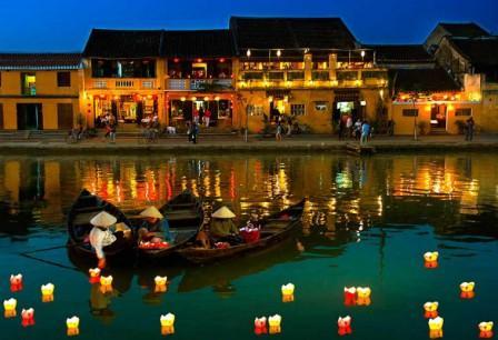 palm garden beach resort hoi an lanterns